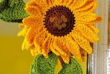 kwiaty włoczkowe