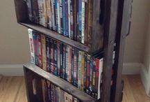 Rustic DVD or Book Shelving