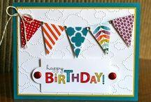 Scrapbooking - fødselsdagskort