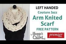 Left handed knitting