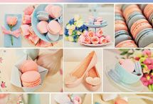 THE PANTONE COLOR OF THE YEAR 2016 - ROSE QUARTZ & SERENITY / Wedding planner Mirabelky (www.mirabelky.com) in cooperation with Mon Macaron (http://www.monmacaron.cz/) and Florimi (http://florimi.cz/) created stunning wedding inspiration pallete.