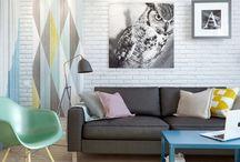 Pequeño apartamento de 45 m2 decorado y muy funcional / Múltiples soluciones para el aprovechamiento del espacio, y con un estilo fresco y luminoso