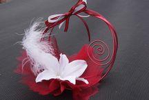 mariage theme rouge et blanc