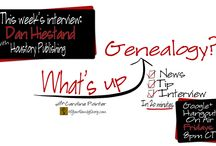 What's Up Genealogy? Show / What's Up Genealogy?, a Google+ Hangout On Air Show. A quick 20-30 minute show that airs on Friday nights 8PM CT focused on industry news, research tips, and an interview with a representative from a genealogy-related organization or business.  / by Caroline Pointer