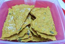 Raw crackers, bread