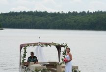WEDDING || boat dock ideas / Our dock is locate on Lake Osceola which is part of the Winter Park Chain of Lakes. Arrive or depart by boat to add a special element to your event.