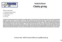 Recipe for Success Cards ~ Fundraising / Ways anyone can help raise funds for the NNPDF for Family Services and Research.