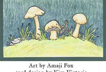 Faeries and Story-book art / Featuring the Faerie Village art of Amaji Fox as rubber stamped creations. Her collections were designed to work together and also with the larger world of stamps in general.