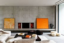 Home: Interior Spaces / Modern / Contemporary Bedroom and & Living Rooms | Floors | Decoration Space Settings | Ceilings | Windows | Semi-Floors | Fireplaces