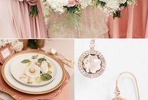 Fresh Green Gold and Blush Wedding