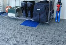 """Storage room / Bergo Tiles solves problems with cold, damp and dull floors. The Bergo Tiles allows the surface underneath to """"breathe"""", which prevents moisture being trapped and odours forming. You can easily perform the installation yourself."""