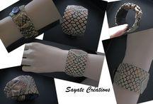 Bracelets Textiles Sayate Créations / Bracelets textiles Sayate Créations