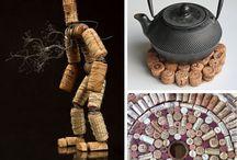 Korken und Weinkorken