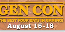 GenCon Indy 2013 / We will be there! Come play Lore on Saturday, August 17, 2013, from 10-2:00!