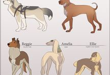 Art Concept Dogs, Wolfs and foxies