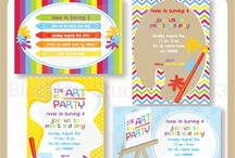 Art Party cliparts, printables and party ideas / by Mygrafico Digitals