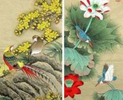 hand-painted chinese painting / Hand-painted chinese painting/ Hand-painted chinoiserie panels @ NSR HANDCRAFTS