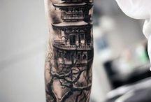 japanese black and grey tattoo