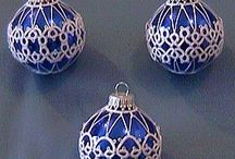 frivolitky / vánoč.koule, věnečky, stromečky, betlém