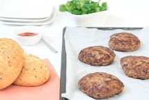 hamburgers en frietjes