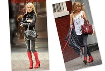 How to Style Red Boots / Red boots are not easy to wear but here are some inspiring images to show you how to wear them well to any occasion.