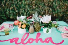 Bright Beach | Styled Shoot / For our November/December styled shoot we decided a much needed bridal bonding experience would be perfect! Who doesn't love picnic's, pineapples and the beach?