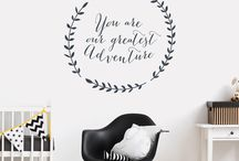 Nursery & Kids Wall Stickers / Wall decal stickers perfect for children's bedrooms and nurseries.