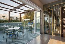 The Patio @ Makaron Restaurant, Majeka House / Outdoor patio for Makaron restaurant in Stellenbosch, South Africa.