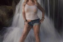 International Glamour Model Miss Abigail Rich playing in a waterfall / Here is a sexy glamour shot of our internationally published Supermodel & Playboy Bunny Miss Abigail playing in a waterfall between photo shoot's in the British Virgin Islands in June.   TEAM ABIGAIL STAFF  Photo credit: MODEL SHOTS PHOTOGRAPHY — in British Virgin Islands.