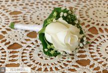 biało-chabrowy ślub