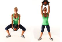 Medicine ball thighs and abs