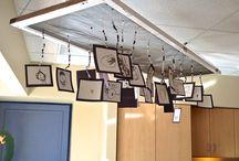 Displaying Children's Work / Many Reggio inspired ways to display children's work.