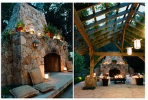 Outdoor Fireplace Ideas / Ideas for our future outdoor fireplace. / by Crystal Villela Melendez