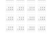 Addisjon og subtreksjon med flersifret tall