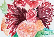 Watercolor Flowers / Lavish florals painted with watercolor.