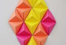 origami mural