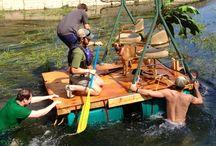 Homemade raft