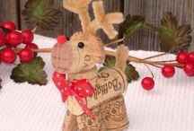 xmas wine cork decorations