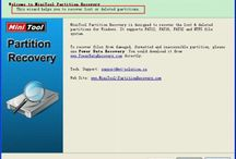 MiniTool Partition Recovery / MiniTool Partition Recovery is a Free Partition Recovery Software that helps recover deleted and damaged logical drives and partitions on Windows.