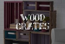 Moore: Wood Crates / The ubiquitous wood crate. Sure, you can use it to store and organize – and we found loads of ideas to try. But you can also transform this craft staple into a curious curio cabinet, a homespun homework station, or an industrial-inspired occasional table. Use one, or use multiples, and turn your crate into something great! / by A.C. Moore Arts & Crafts