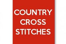 Countries cross stitches