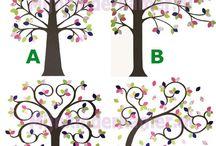 Behangboom / Behangbomen / Wallpaper Tree / Een behangboom zorgt voor een vrolijk statement in de kinderkamer