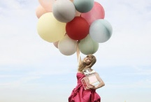flying with balloons!