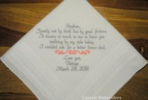Stepfather of the Bride Embroidered Wedding Handkerchief
