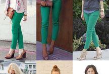 pantalon verde primavera