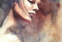 Watercolor / watercolor, aquarelle, akvarell