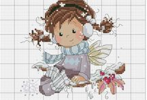 Cross stitch girls