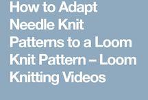 Converting needle knitting patterns to knitting loom