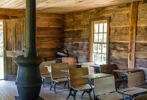 One Room Tree Schoolhouse / ideas for setting up our one room schoolhouse that's also a tree house.
