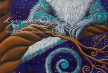 Artsy Cats / Cats in art, drawings, paintings, realism or abstract and whimsy,